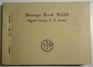 M-210 Message Book