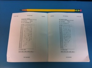 Sample Key List Booklet, Opened