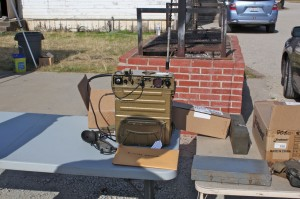 Russian R-107M Transceiver on Bjorn Forsburg SM5UR's swap table.