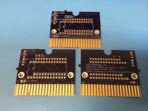 Three Bare CoCoEPROMpak Boards