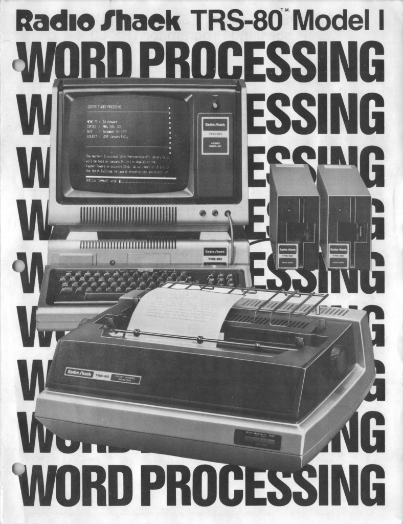 Radio Shack TRS-80 Model I Word Processing Brochure 1980