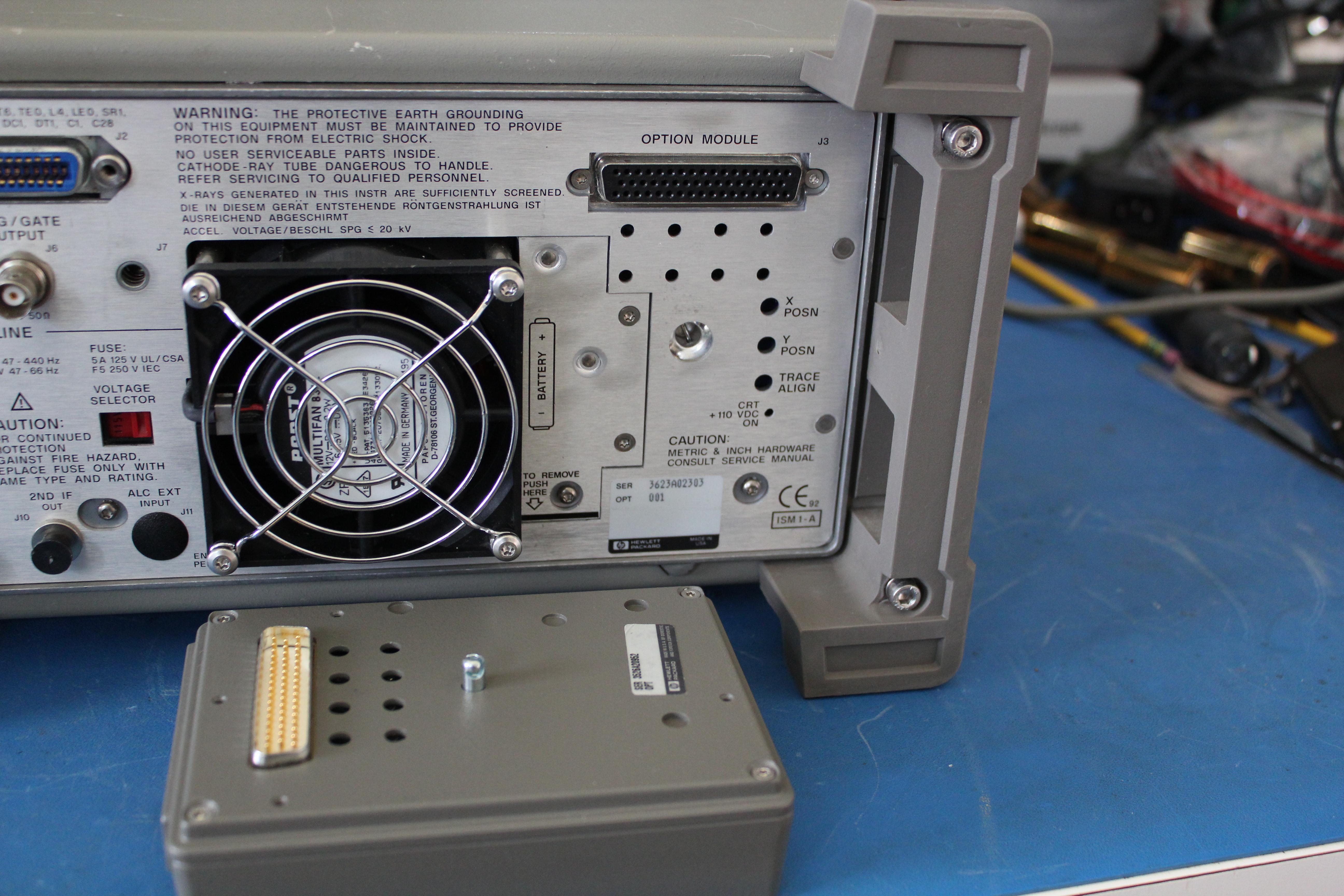 Mass storage module removed
