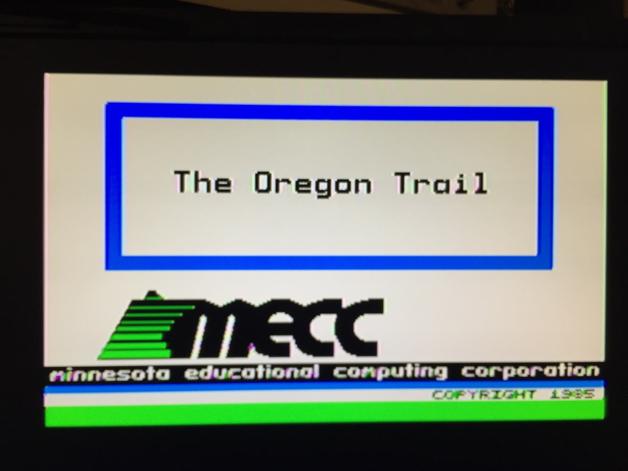 Oregon Trail Title Screen