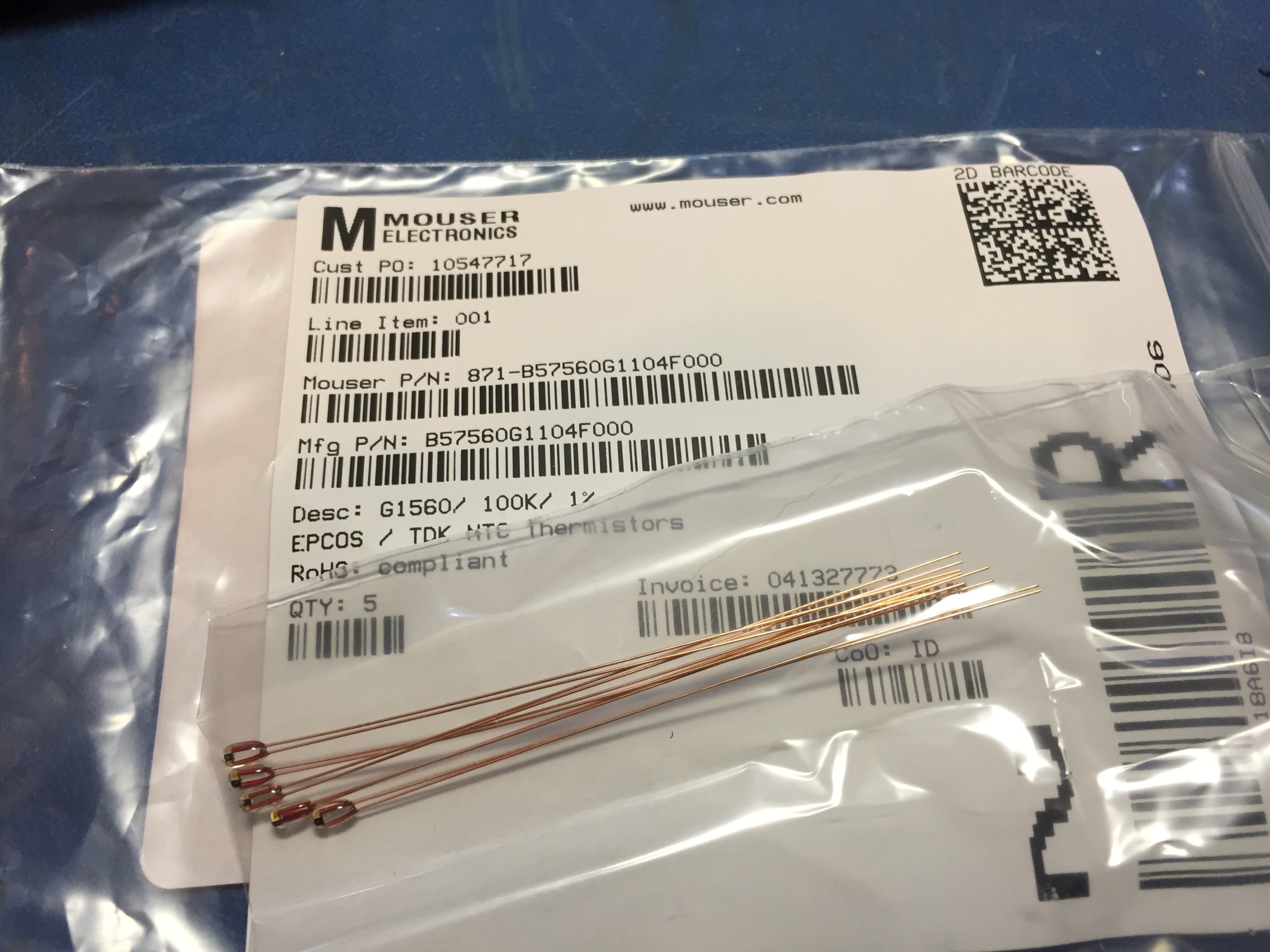 Glass-Bead Thermistors
