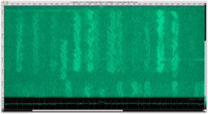Unknown Mode near 14.074 MHz (baudline spectrogram)