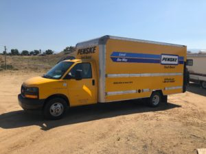 Rented Penske Box Truck with Lift Gate