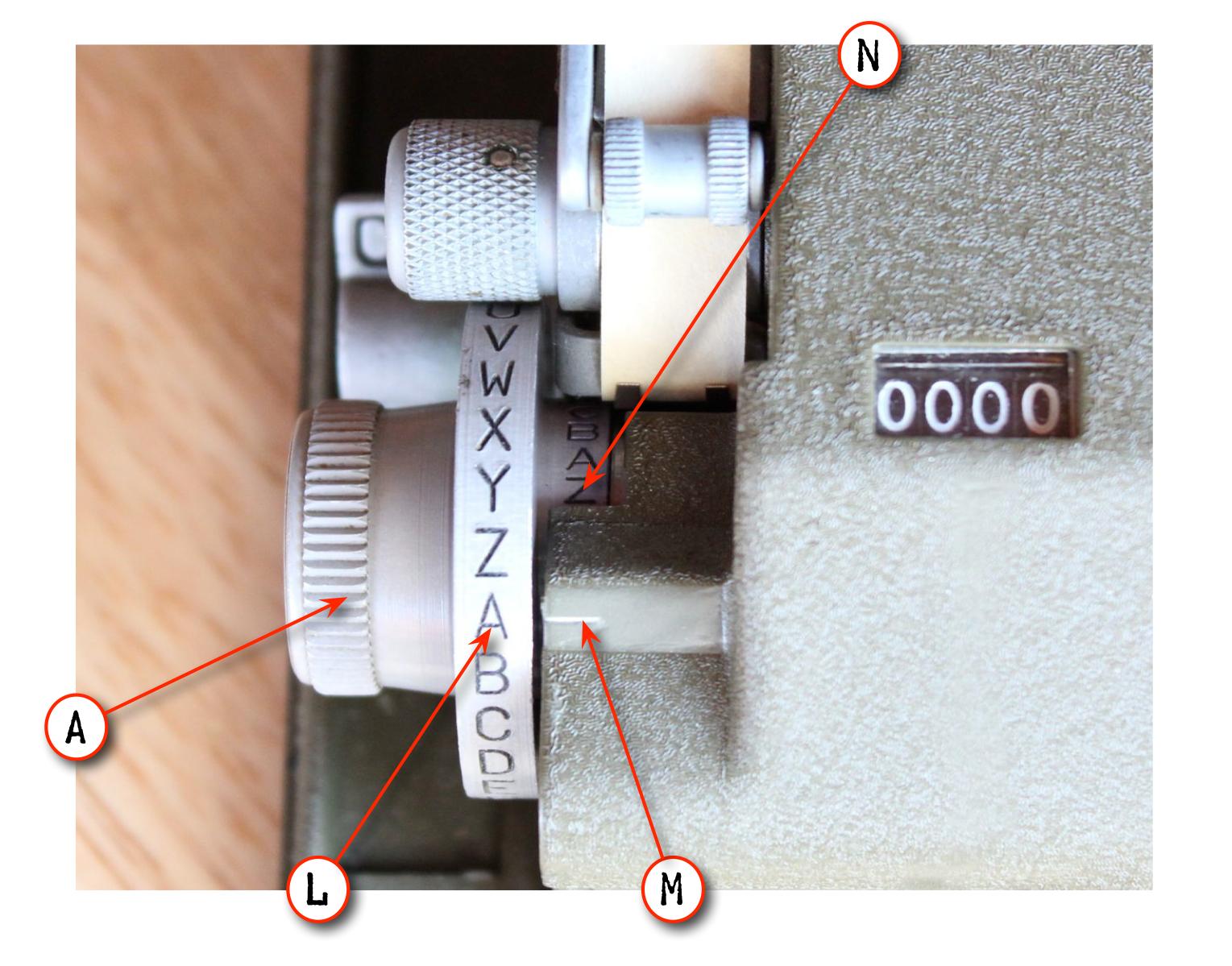 M-209 Setting Knob Details
