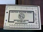 Army Message Book DA Form 4004