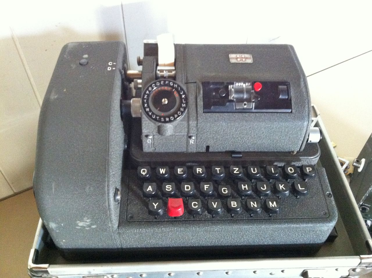 Hagelin B-52 keyboard plus CX-52 cipher machine