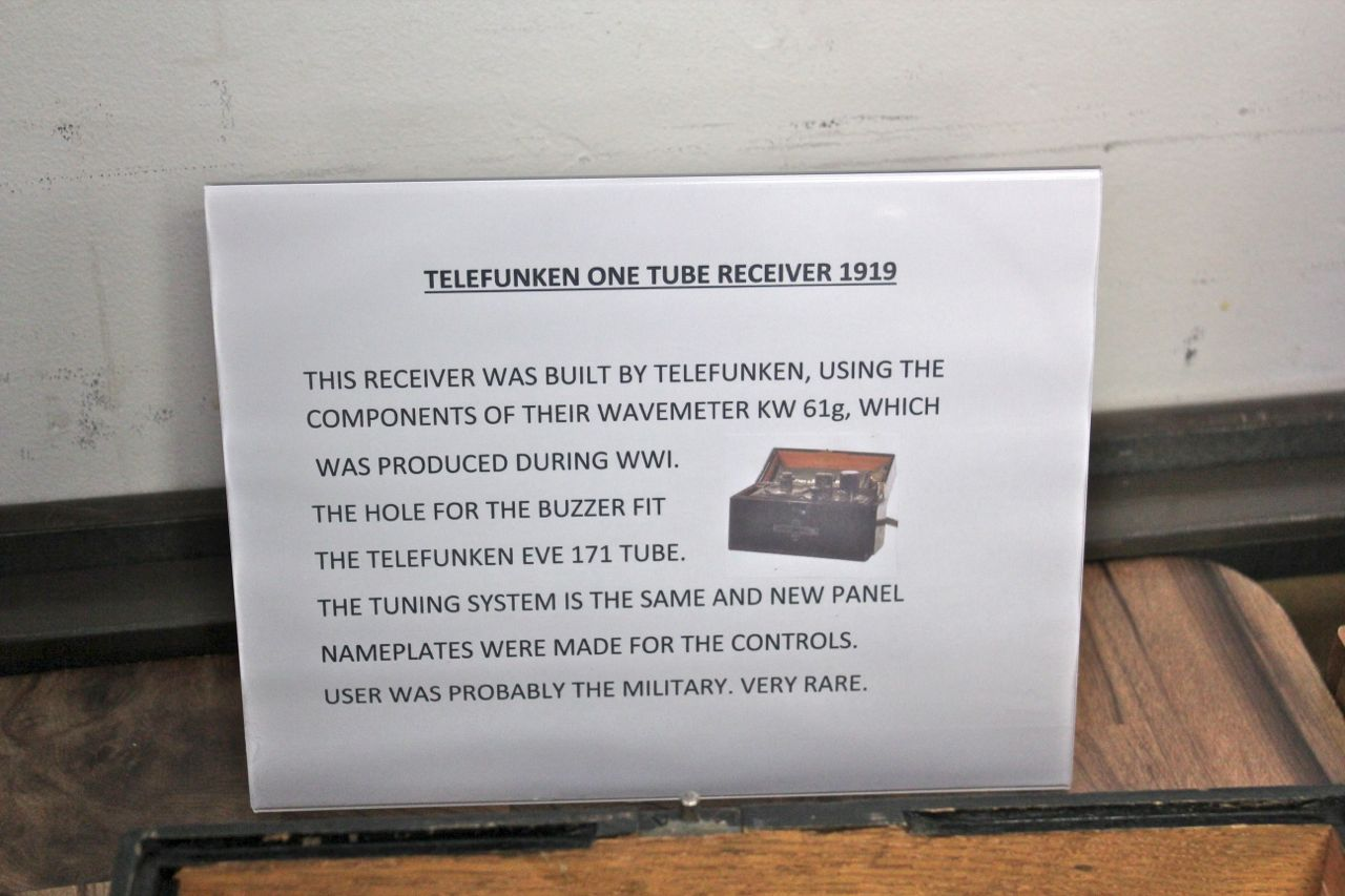 Equipment Displays: Telefunken One-Tube Receiver 1919