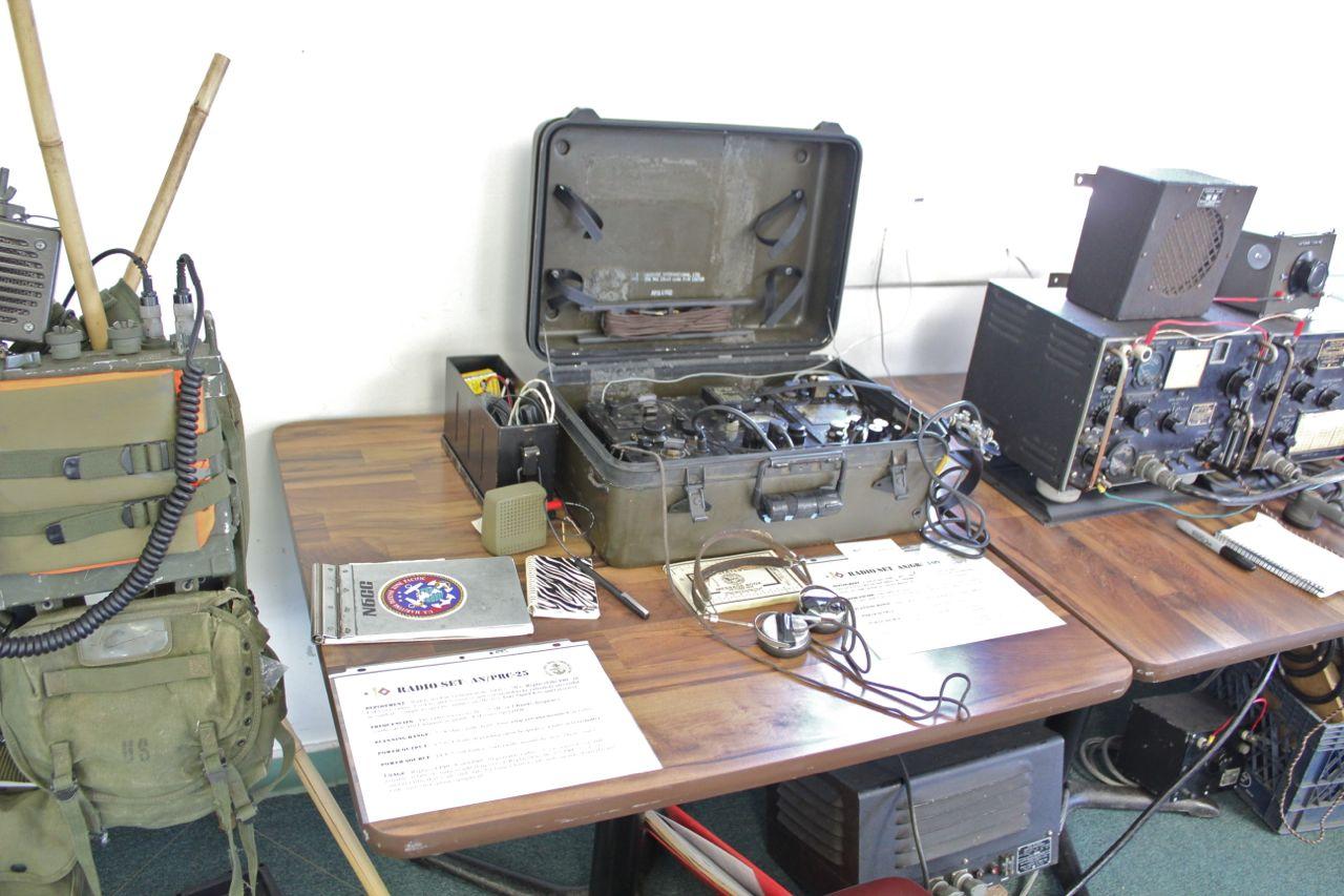 Equipment Displays: PRC-25, GRC-109, TCS