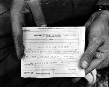 Burma, Around 1944: M-209-Deciphered Message Received by Merrill's Marauders